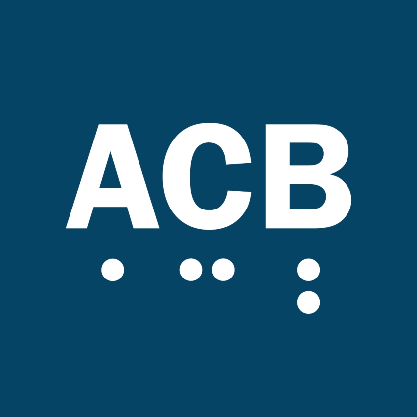 ACB in text and braille.